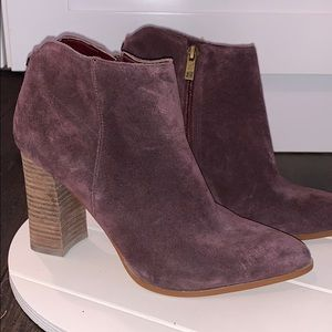 Plum colored Suede bootie